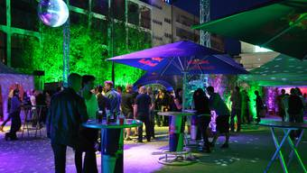 In&Outdoor Party auf dem Trafoplatz in Baden