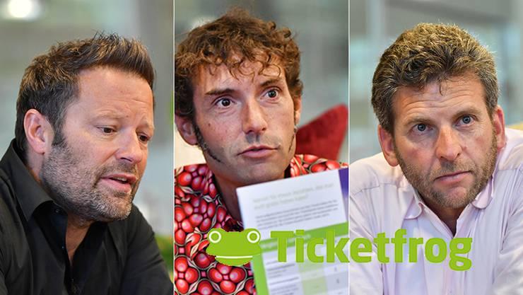Die Macher von Ticketfrog: Reto Baumgartner, Mike Müller und Urs Koller (von links)