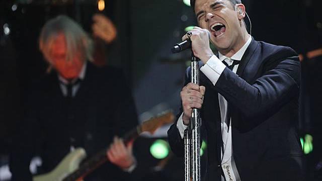 Robbie Williams performt an den Brit Awards 2010 (Archiv)