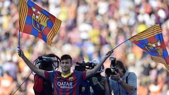 45'000 Fans begrüssen Neymar im Camp Nou als neuer Barcelona-Star.