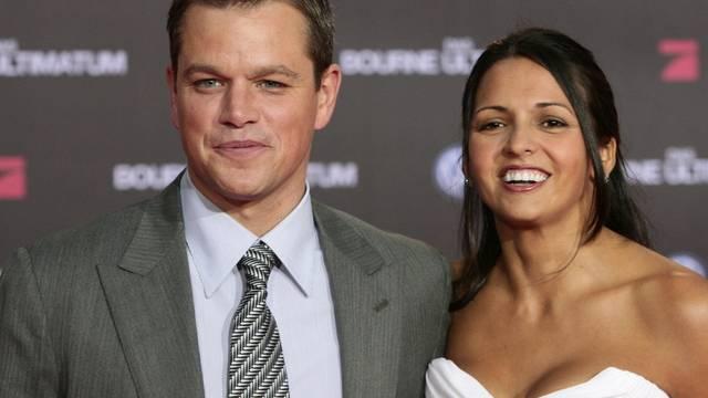 Matt Damon mit Ehefrau Luciana