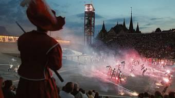 Gigantisches Spektakel am Genfersee: Bild von der letzten Fête des Vignerons 1999 in Vevey.