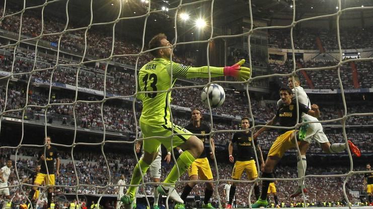 Ronaldo trifft und trifft. Hier erzielt das zwischenzeitliche 1:0 gegen Atletico.
