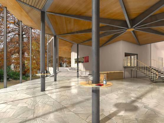 Eine Visualisierung des Sachs-Foyer im Projekt Equilibre.
