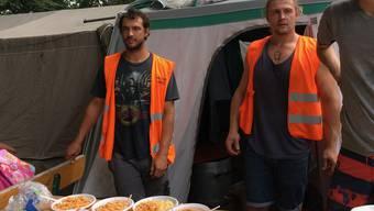 Flüchtlingshelfer Fabian Dingetschweiler in Como
