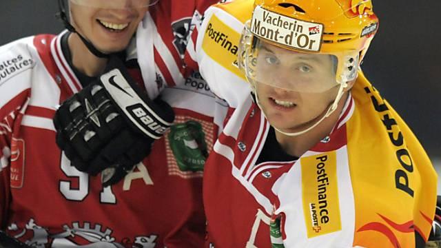 Tremblay (rechts) und Setzinger schossen Lausanne an die Spitze