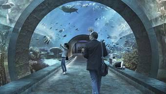 Das geplante Ozeanium des Basler Zolli