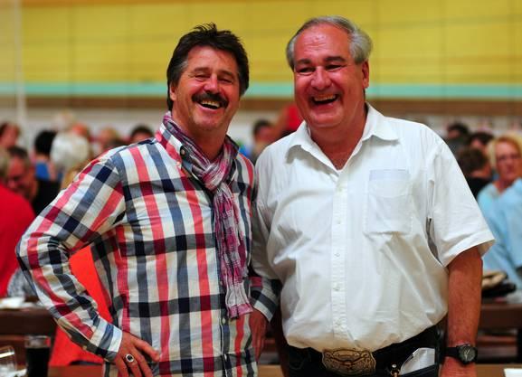 Bestens gelaunt: Michel Jordi und Boris Banga.