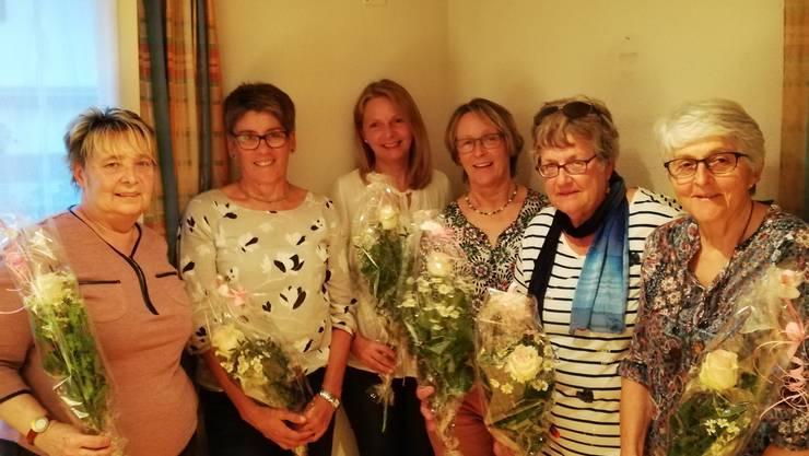 v.l. Isabella Strebel, Priska Stierli, Brigitte Weber, Frida Amhof, Marianne Kuhn, Marianne Herzog