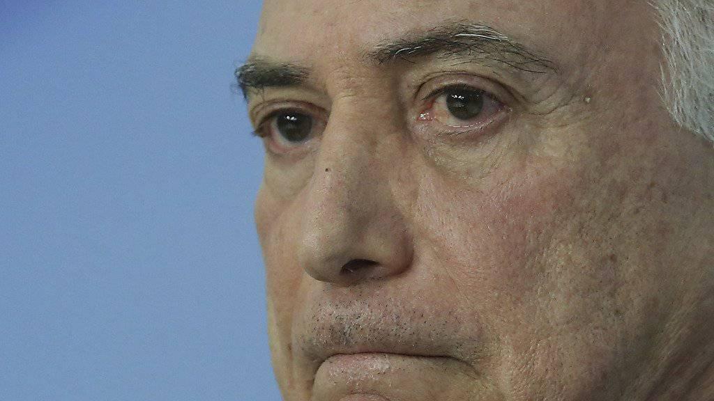 Michel Temer, als er noch Präsident Brasiliens war (Aufnahme vom 1. Juni 2018).