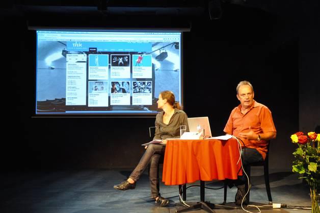 Nadine Tobler und Markus Lerch stellen die neue Website vor