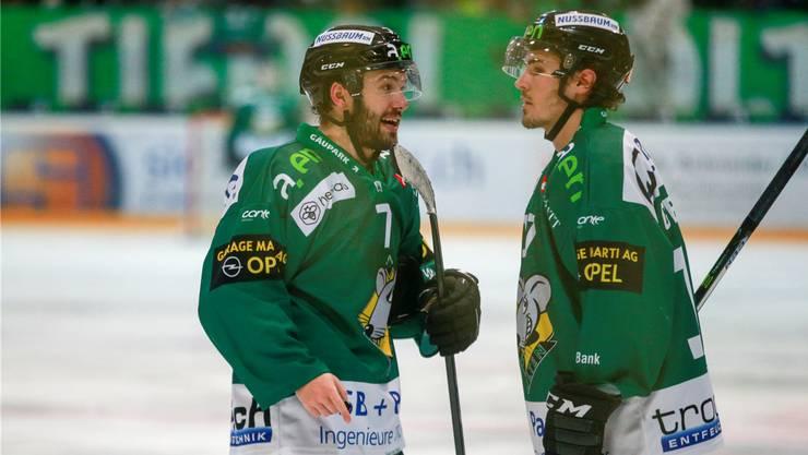 Das wissen sie selber: Von Cason Hohmann (links) und Bryce Gervais wird eine Leistungssteigerung erwartet.