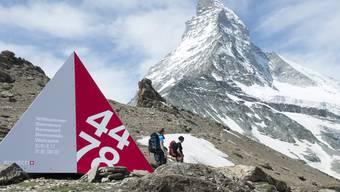 Holz-Alu-Zelt am Matterhorn.