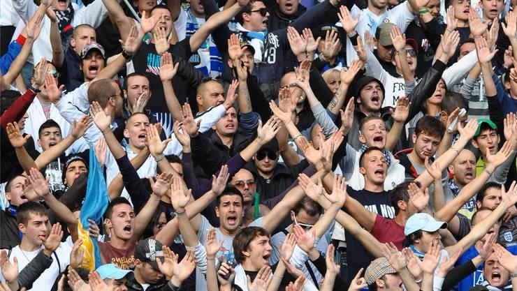 Unter ihnen die Schlimmsten: Die Fans von Lazio Rom.