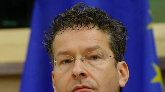 Jeroen Dijsselbloem, Chef der Euro-Gruppe, im Europaparlament