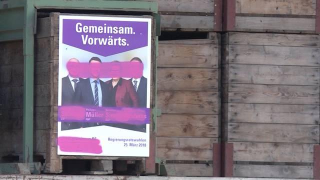 Berner Wahlplakate grösstenteils verschmiert