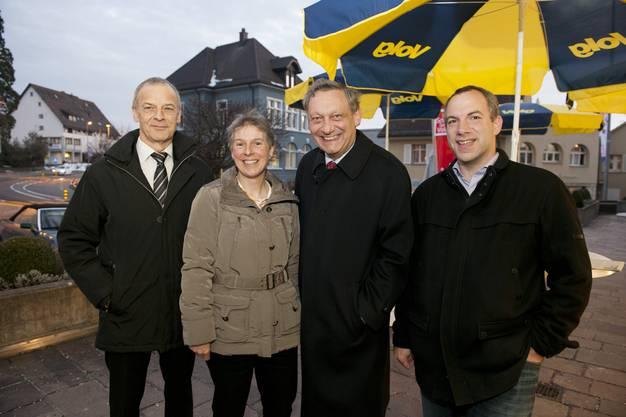 Gemeinderat: von links: Kurt Scherer, Monika Locher, Daniel Hug, Thomas Heimgartner