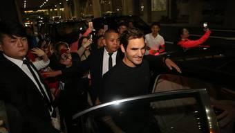 Roger Federer vertritt in Hangzhou sich selbst – und zahlreiche Sponsoren.