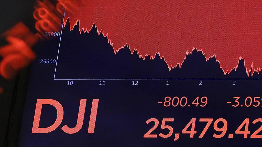 Die Angst vor einer Rezession bescherte an Börsen weltweit Verluste. (Symbolbild)