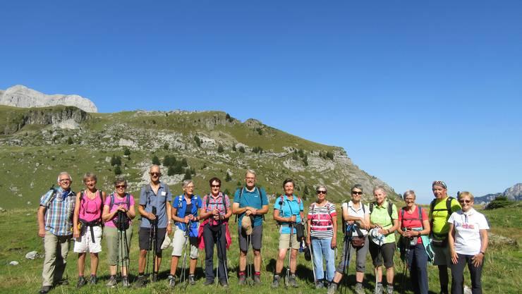 Gruppenfoto auf der Oberen Dünden