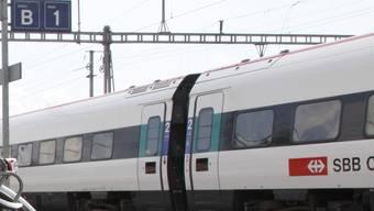 Gleis 1 des Hauptbahnhofs Solothurn