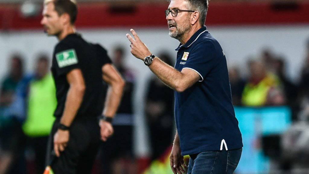 Urs Fischer holte mit Union Berlin den ersten Punkt in der Bundesliga