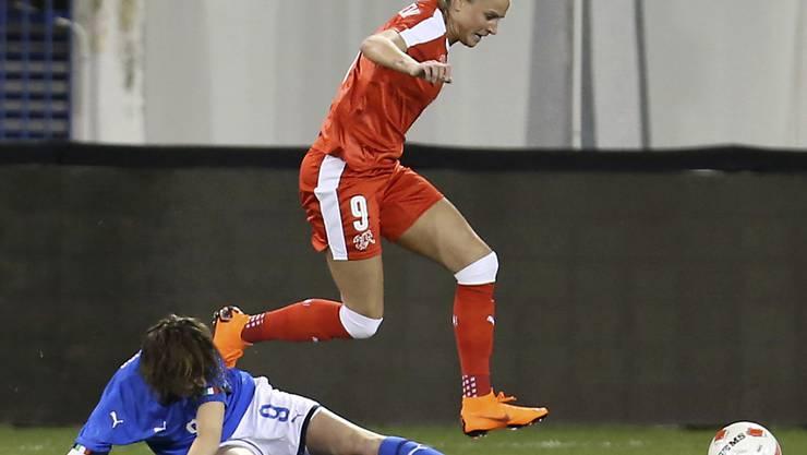 Ana-Maria Crnogorcevic schoss im 99. Länderspiel ihren 50. Treffer