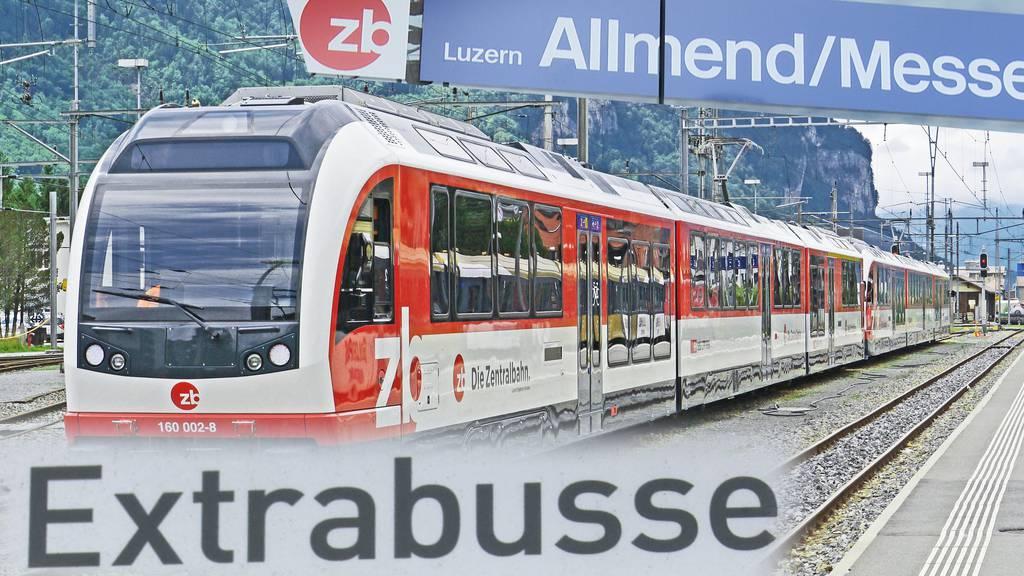Zentralbahn: Zufahrt Bahnhof Luzern für einen Monat gesperrt