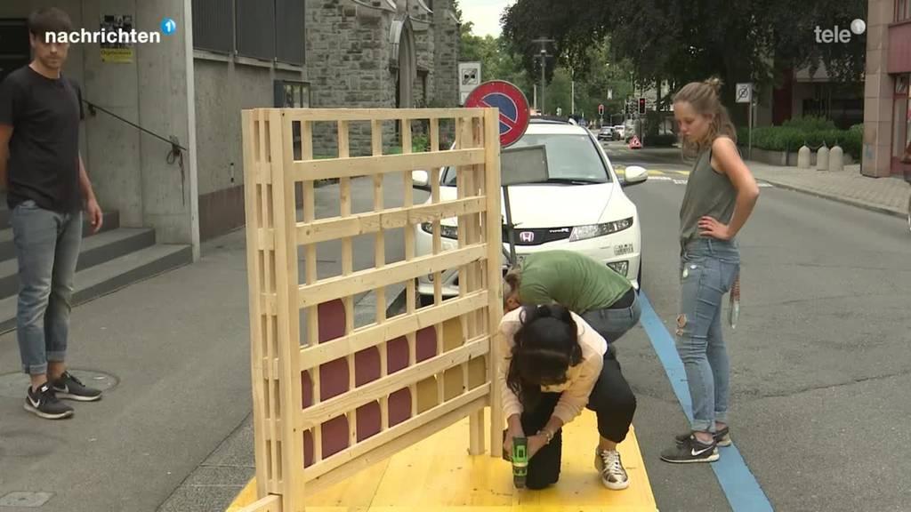 Erster Pop-Up-Park wird aufgebaut