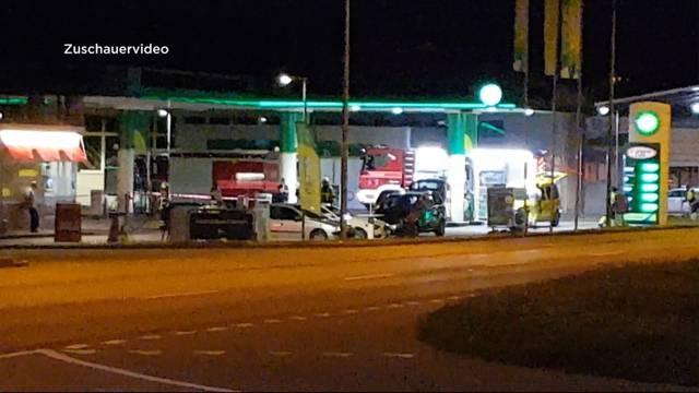 Explosionsgefahr bei BP Tankstelle