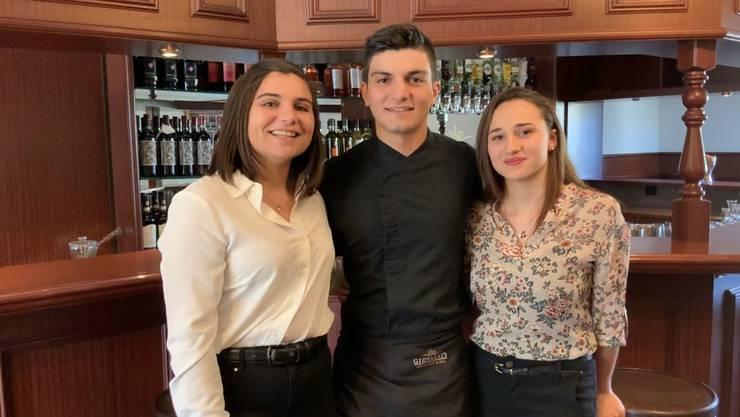Die junge Crew des «Giovanni's»: Sebiana (links), Francesco und Sara Russo.