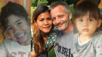 Die Eltern Margie (29) und Christian (46) Kast, die ältere Tochter Queen Sebell Alapag (6, rechts) und die jüngere Tochter Alina Kast (2, links).