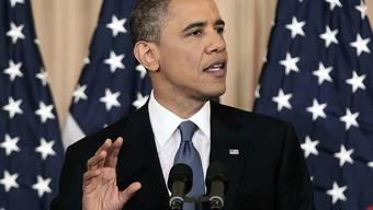 Barack Obama während der Rede