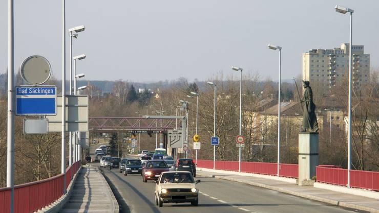 Hier beim Grenzübergang Stein-Bad Säckingen wurde der Litauer erwischt