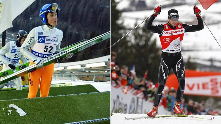 Simon Ammann und Dario Cologna sind die Medaillenhoffnungen