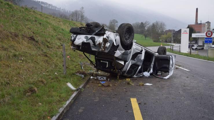 Zum Unfall kam es auf der Baslerstrasse in Balsthal