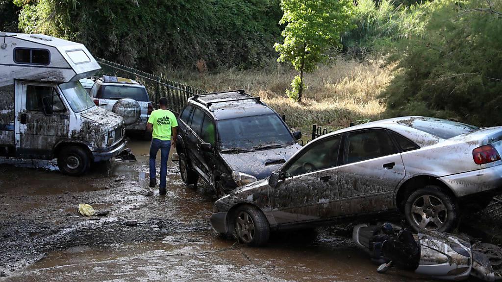 Einige Gebiete in Frankreich unter Wasser gesetzt