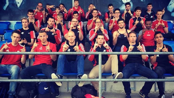 Enttäuschtes Männerteam