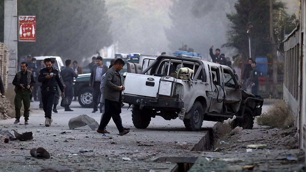 Bilder eines Anschlags in Kabul vor wenigen Tagen