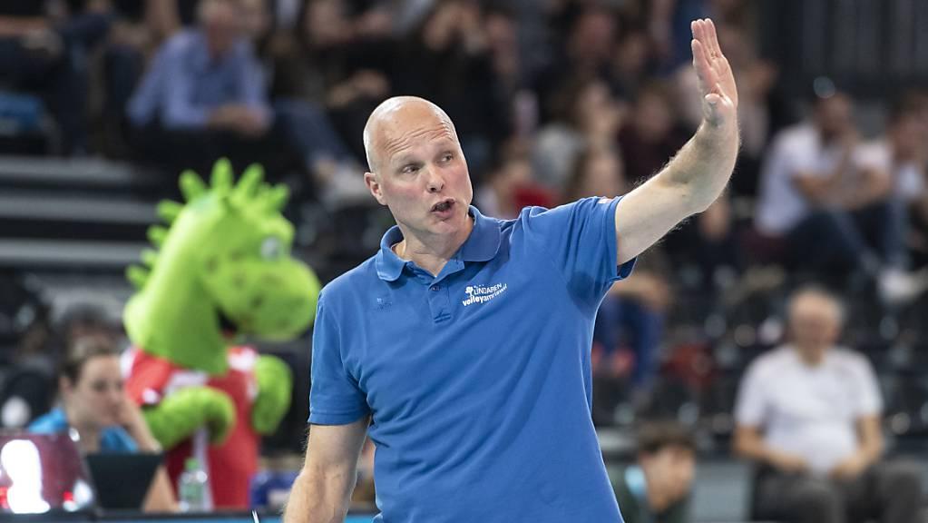 Marko Klok nimmt mit Volley Amriswil die erste Hürde in der Qualifikation zur Champions League.