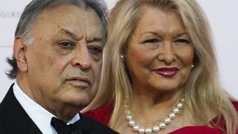 Der indische Dirigent Zubin Mehta und seine Frau Nancy in Berlin anlässlich der Preisverleihung