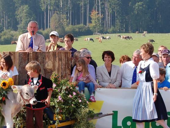 Als Gast an der Braunviehausstellung 2007 auf dem Horben.