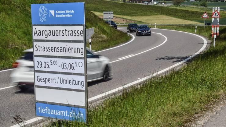 Verbindung Oberwil-Lieli–Birmensdorf: ab Mittwoch gesperrt.
