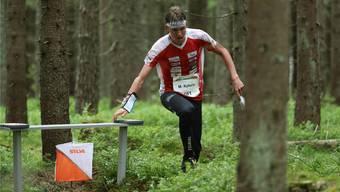 Nach einem Bänderriss startete Matthias Kyburz an der WM, übertrat sich aber den Fuss erneut.Bild: Swissorienteering/Remy Steinegger