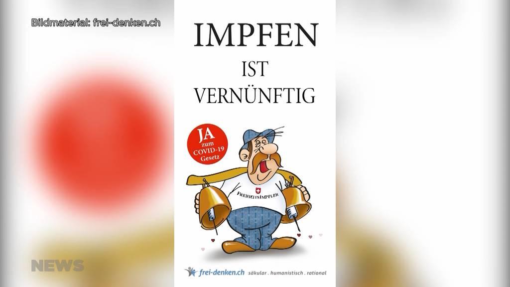 Provokatives Plakat mit «Freiheitsimpfler»: Der Abstimmungskampf um das Covid-Gesetz wird emotional