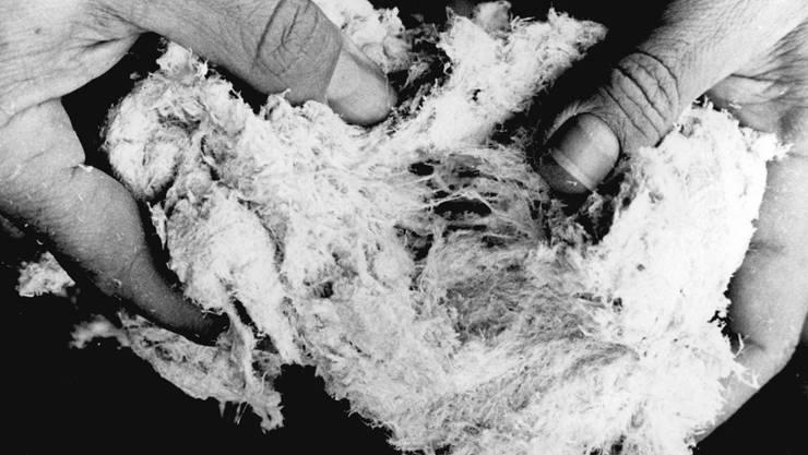 Asbestfasern lösten bei Berufstätigen Krankheiten aus, die oft tödlich enden. Da die Patienten oft schon kurz nach dem Ausbruch der Krankheit sterben, will der Bund die Auszahlung von Entschädigungen beschleunigen (Symbolbild).