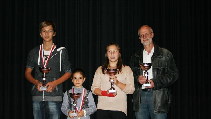 Die Solothurner Schachmeister 2013 (v.l.): Samuel Krebs, Gohar Tamrazyan, Jill Hofer und Anton Meier, alle vom Schachklub Solothurn.