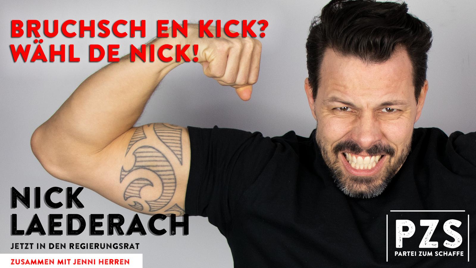 Nicks Wahlplakat (© Radio 24)