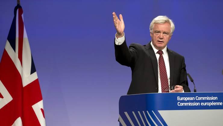 Britischer Verhandlungsführer David Davis: «Grossbritannien verfolgt eine flexible und pragmatische Strategie.»
