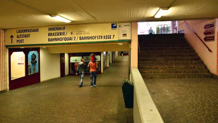 Eine Verbindung der beiden Oltner Stadtseiten gibt es zwar, aber kaum jemand liebt sie: die Winkel-Unterführung.